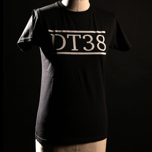 T-Shirt - Black with White DT38 Logo