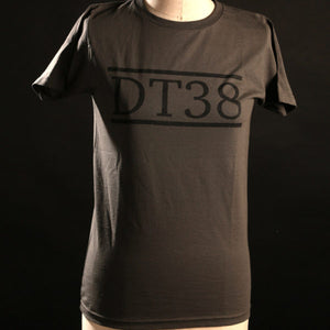 T-Shirt - Stone Grey with Black DT38 Logo
