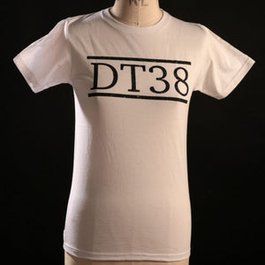 T-Shirt - White with Black DT38 Logo