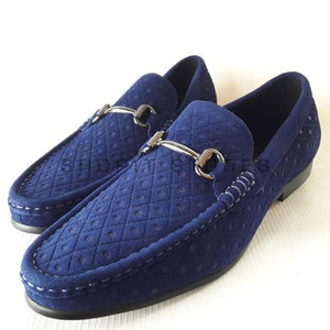 774c244bbff66 Salvatore Ferragamo buckled suede loafers - Blue – ShopIt Stores