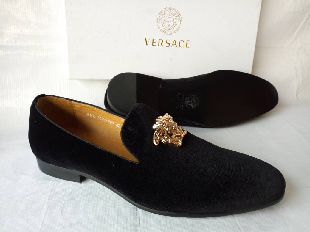 9fa1cd6b9 ... Load image into Gallery viewer, Versace Suede Crested Loafers - Wine