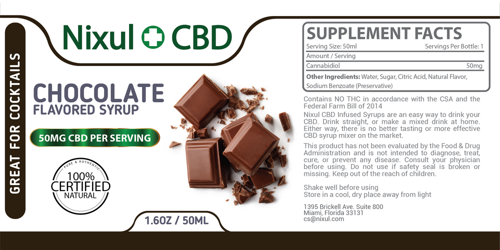 CBD Syrup – Chocolate
