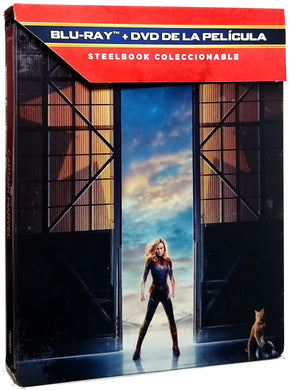 Capitana Marvel Steelbook Blu-ray + DVD