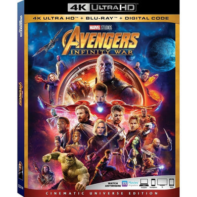 Avengers Infinity War 4k Ultra HD + Blu-ray
