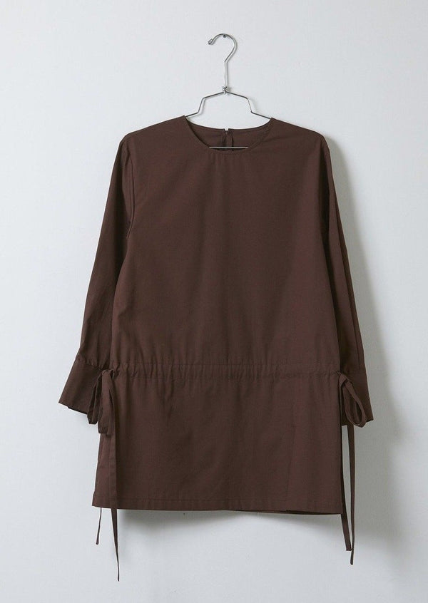 Atelier Delphine Tabitha Blouse Tunic Top Shirt Eggplant Brown Slate Oyster Organic Cotton