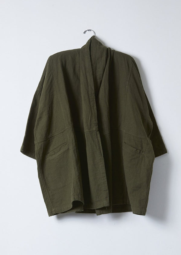 Haori Coat, Hunter Green