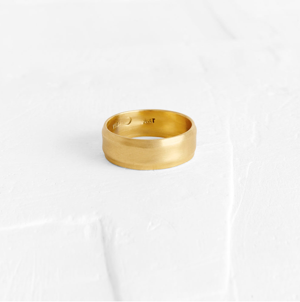 Wide Ridged Ring