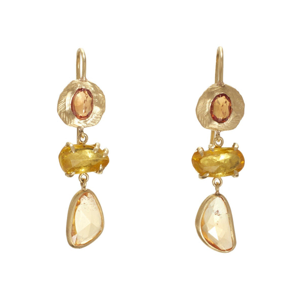 Page Sargisson Triple Yellow Sapphire Earrings