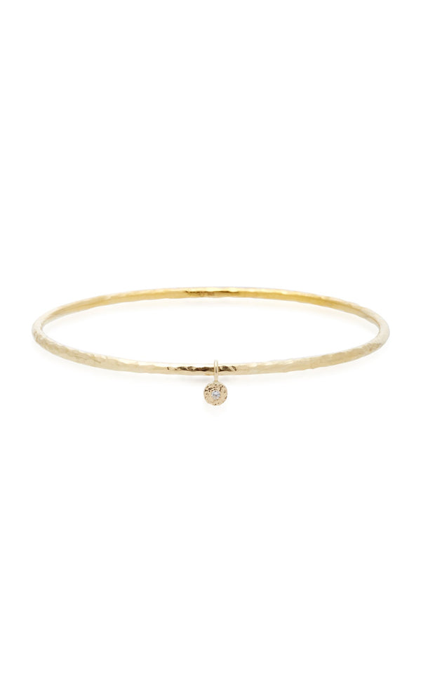 Diamond Nesting Gem Thin Bangle