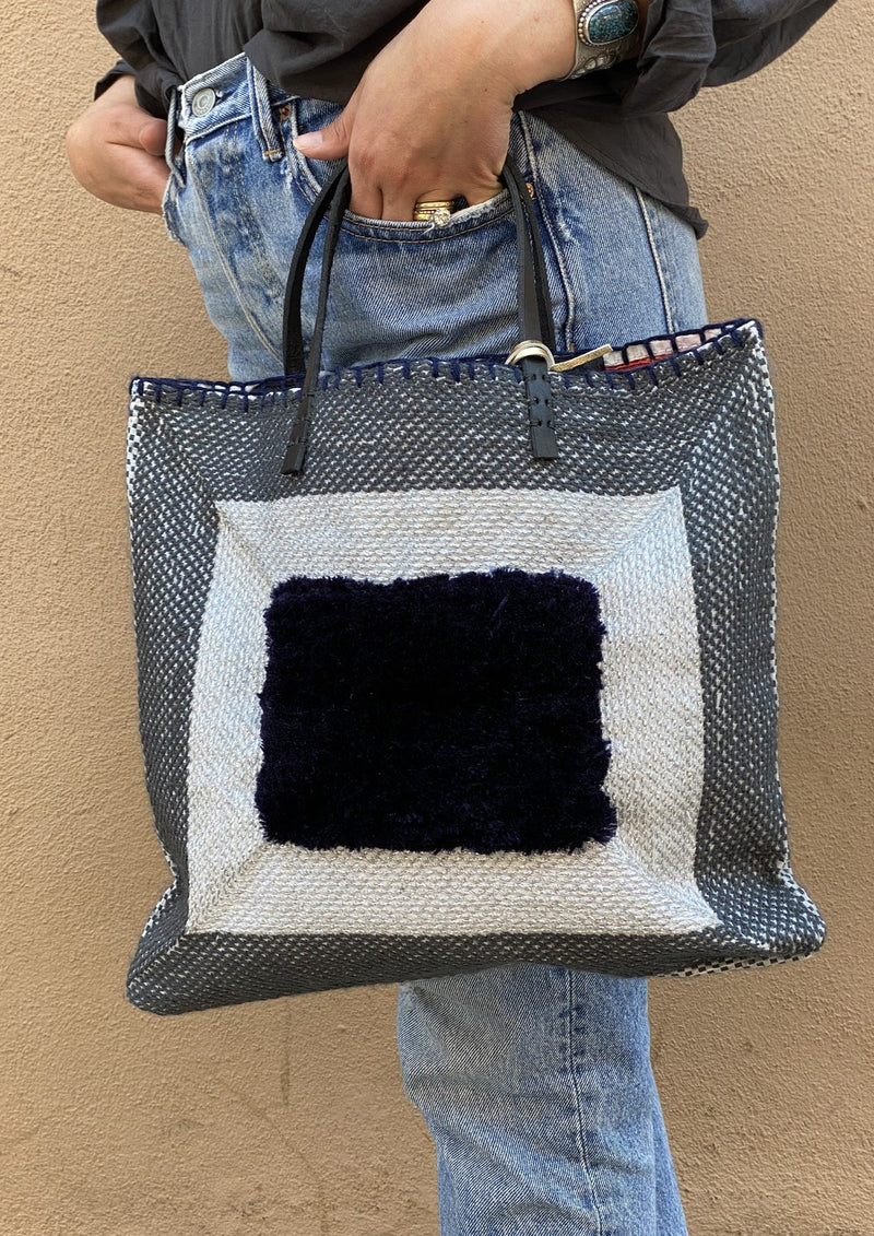 Recycled Summer Tote, Navy
