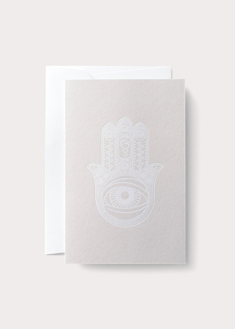 White Khamsa Card