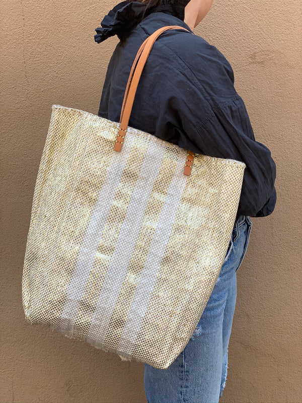 Recycled Summer Tote - Yellow Gold