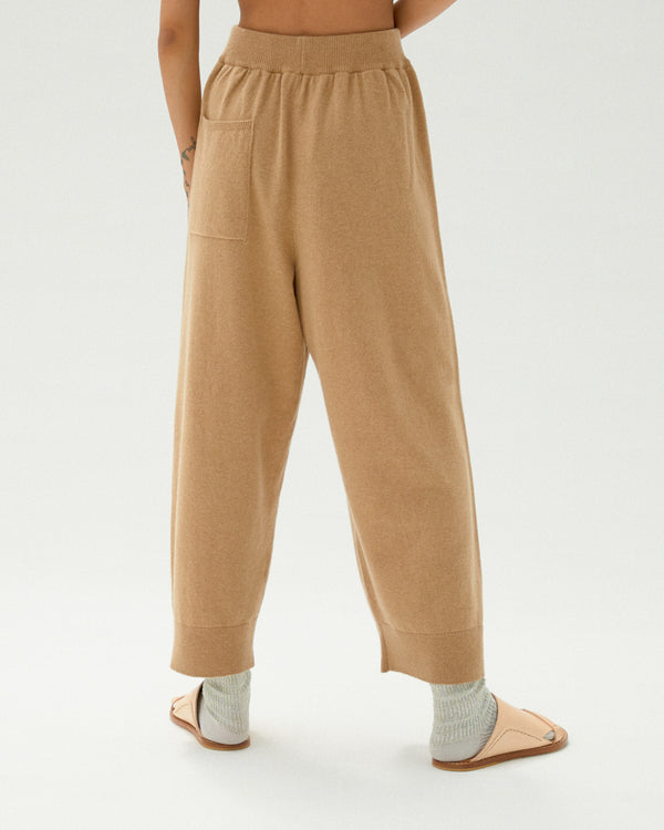 Cashmere Knit Pants Camel