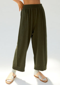 Cashmere Knit Pants Green