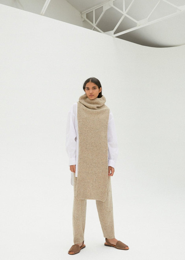 Chunky Soft Wool Collar Natural