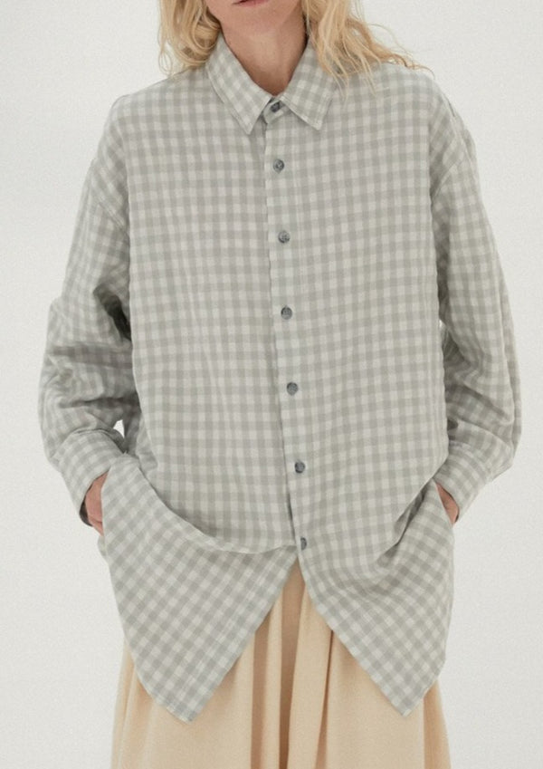 Checkered Shirt, Silver Blue