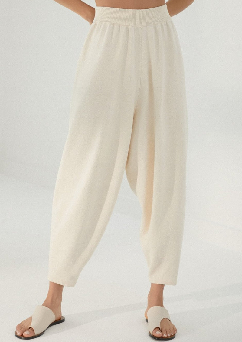 Knit  Pants, Natural