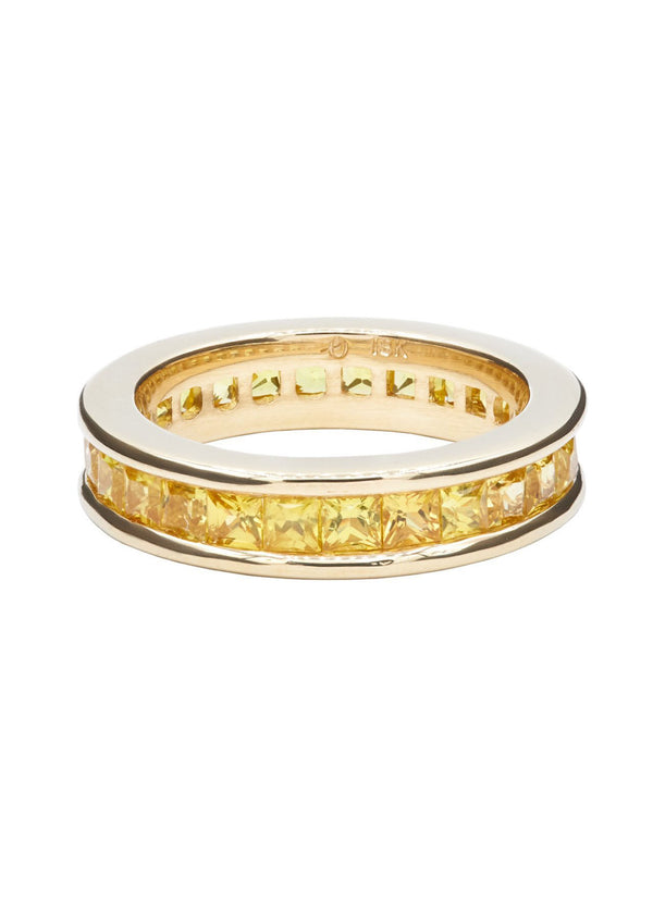 Yellow Ivy Anniversary Ring