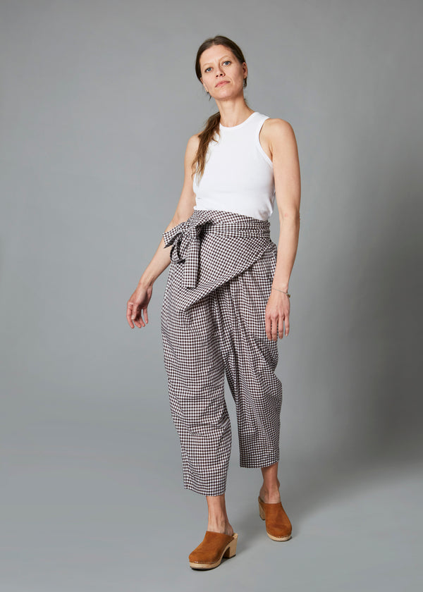 Nicole Pant - Brown Gingham