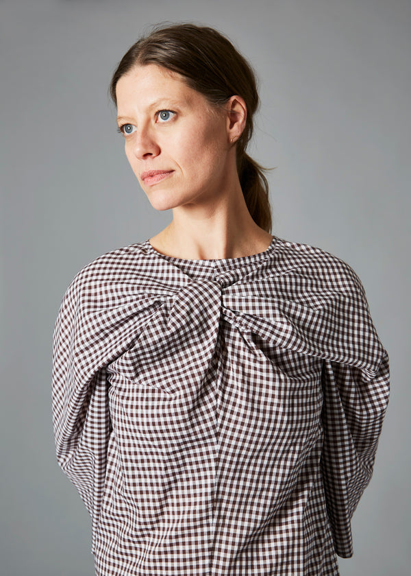 Alexis Dress - Brown Gingham