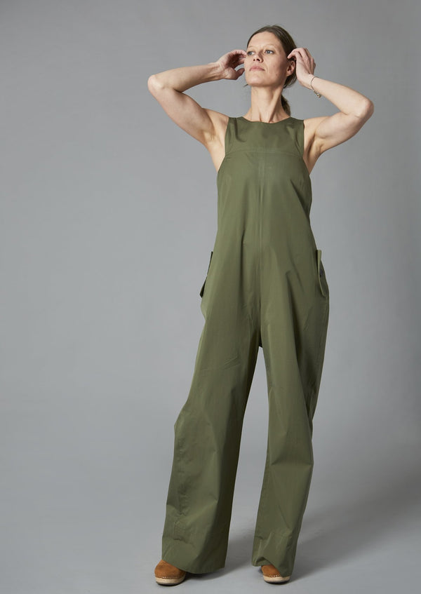 Architectural Cut Jumpsuit, Rocky Moss