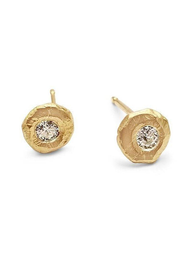 Page Sargisson 18k Gold and Diamond Stud Earrings