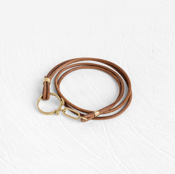 Key Chain Leather Bracelet