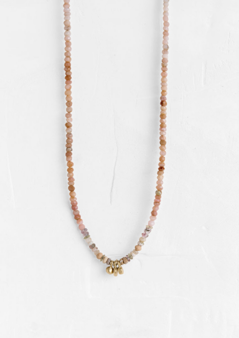 Necklace with Gold Drop Elements