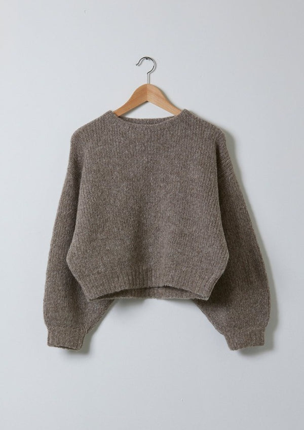 Atelier Delphine Balloon Sleeve Sweater Deer Baby Alpaca
