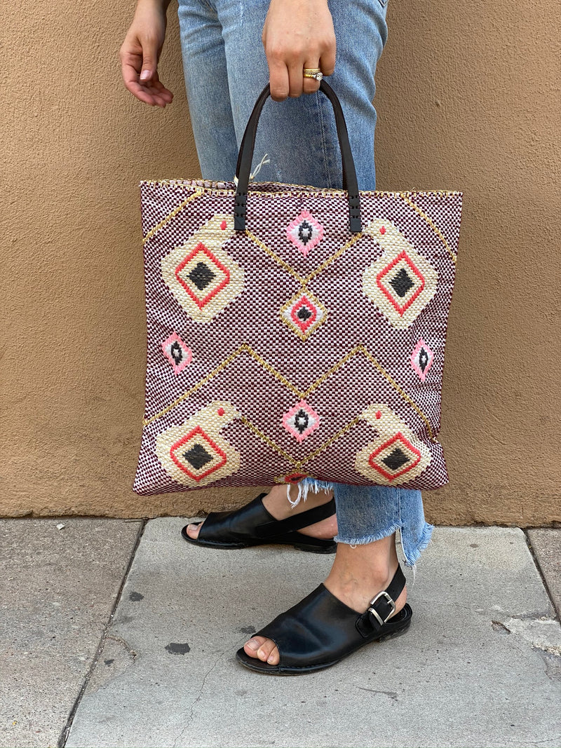Recycled Summer Tote - Ikat B