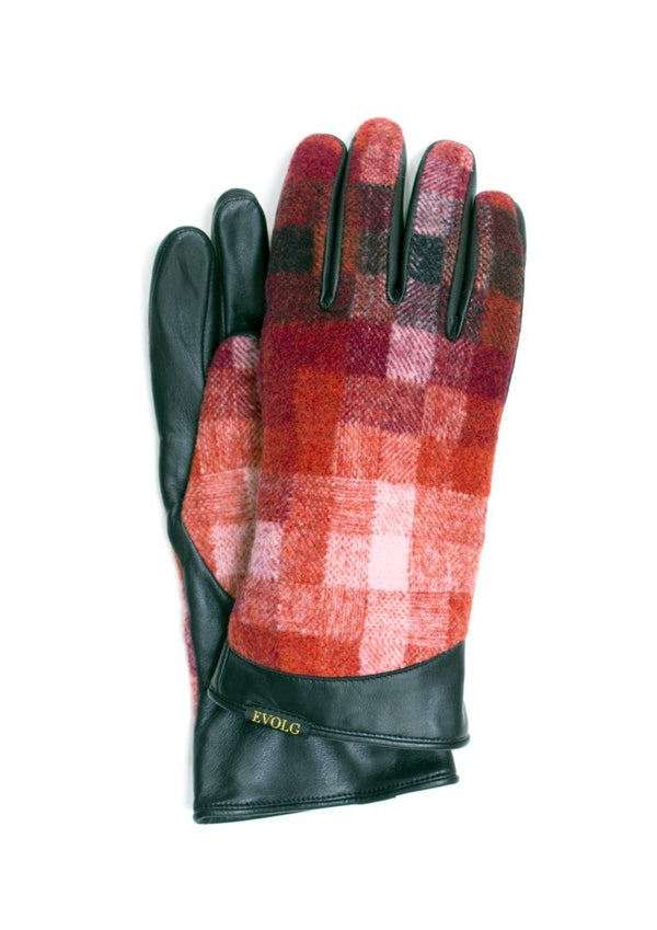 Red checkered EVOLG gloves