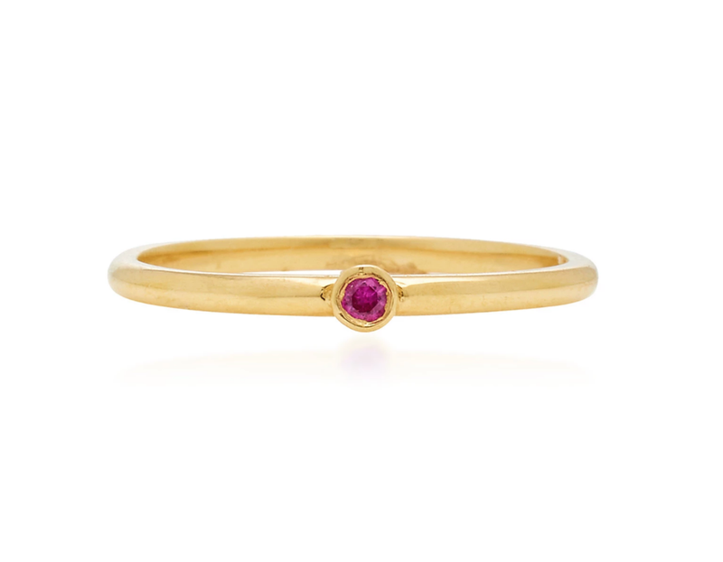 Micro Ruby Stack Ring