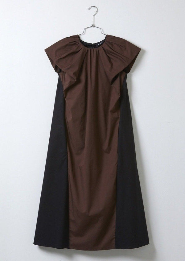 Atelier Delphine Cacie Dress Organic Cotton Eggplant Brown Slate Black