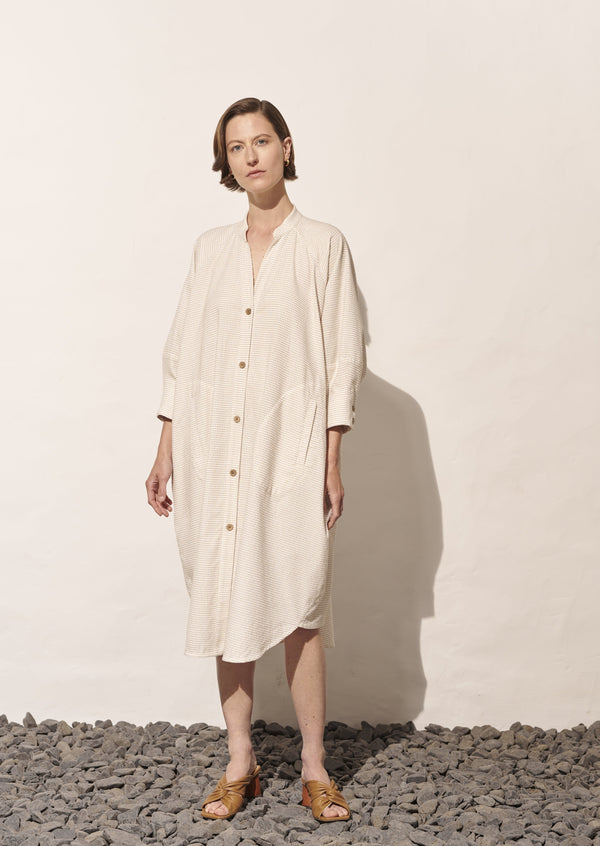 Lightweight Structured Shirt Dress, Cactus