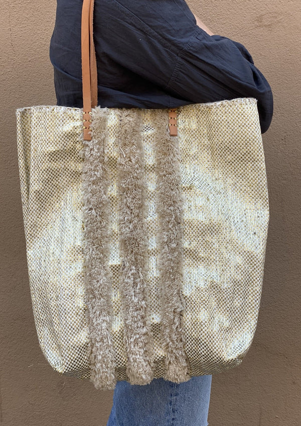 Recycled Summer Tote, Gold