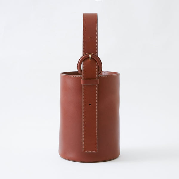 Natural Italian Leather Dune Bucket Bag made by Crescioni in Los Angeles