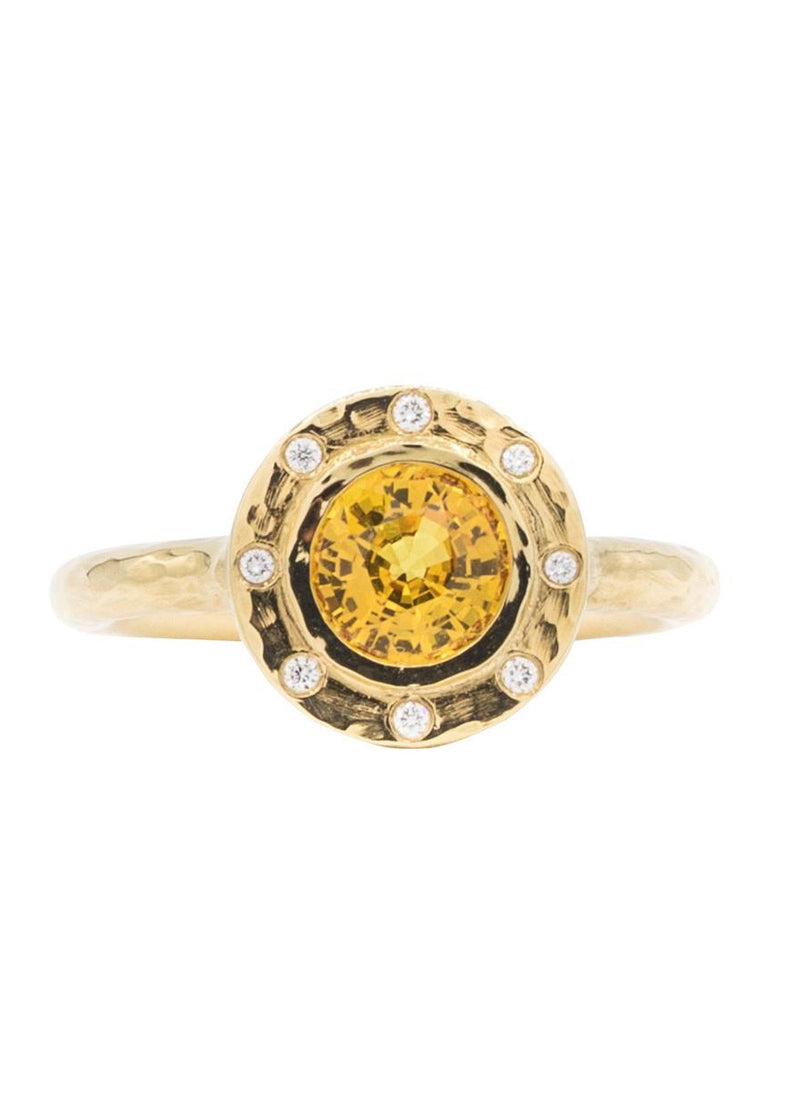 Citrine Circular Grace Ring