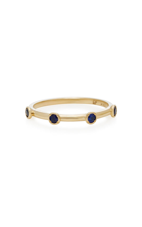 4 Sapphire Stack Ring