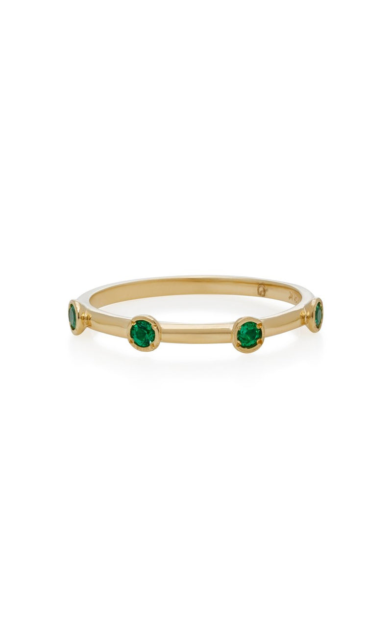 4 Emerald Stack Ring