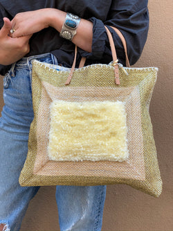 Recycled Summer Tote - Gold