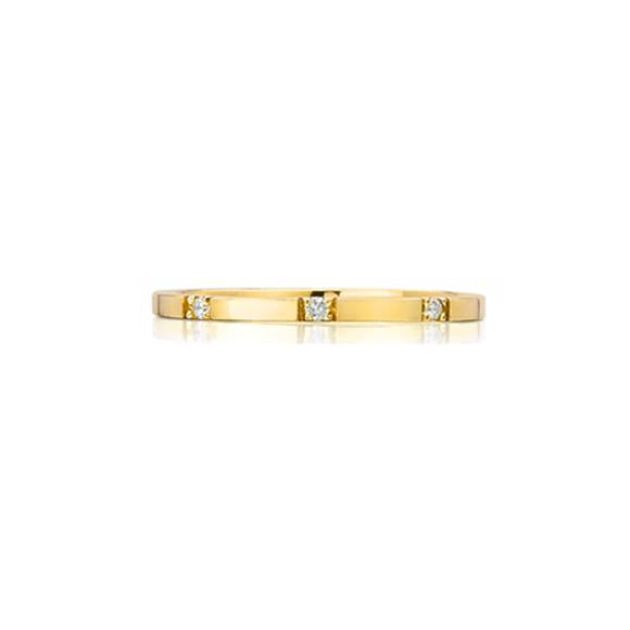 Ada Eternity Band, Yellow Gold & White Diamonds
