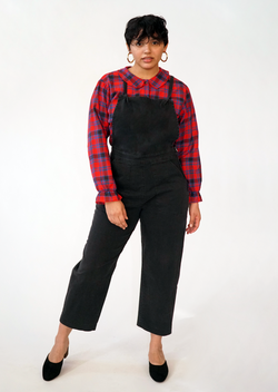 Knot Overalls, Black