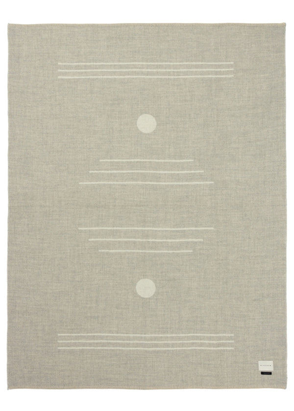 Harvest Moon Reversible Throw - Light Heather, Ivory