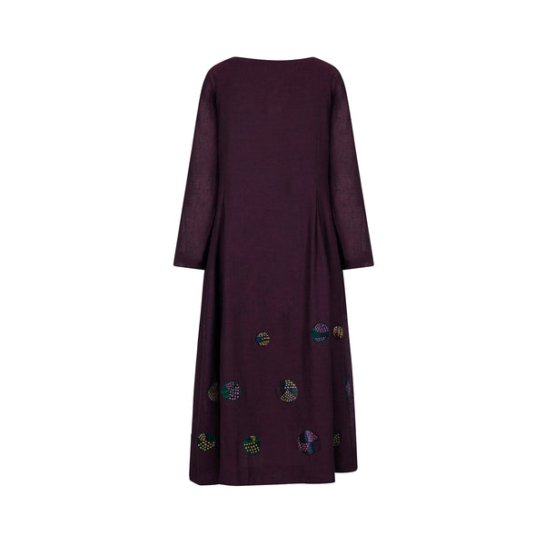 Sansa Wool Dot Dress