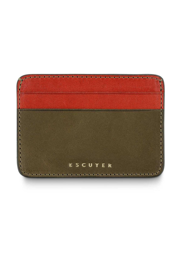 Cardholder, Khaki & Orange