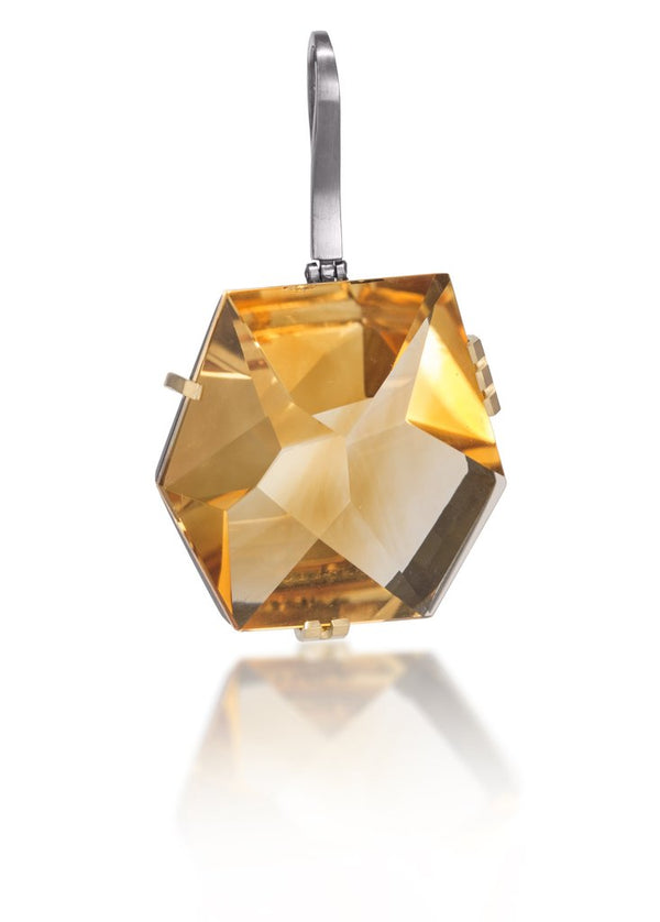 Faceted Citrine Pendant