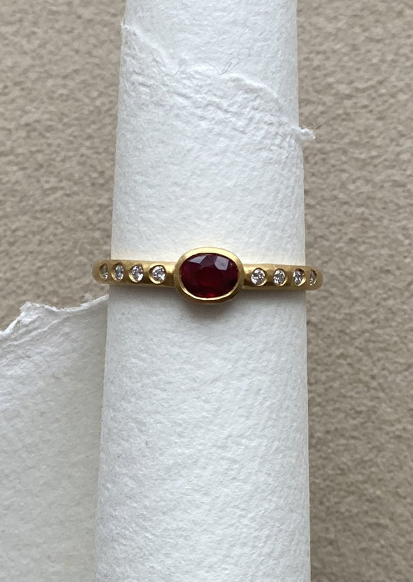 Super Ruby Stacking Ring