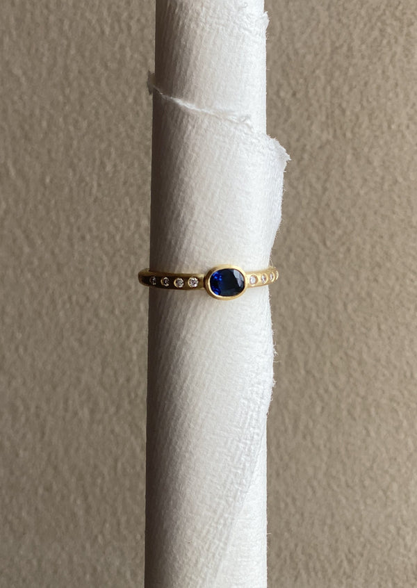 Super Sapphire Stacking Ring
