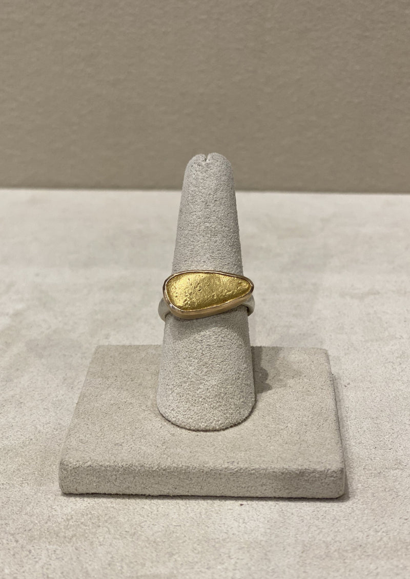 Natural Gold Nugget Ring 1