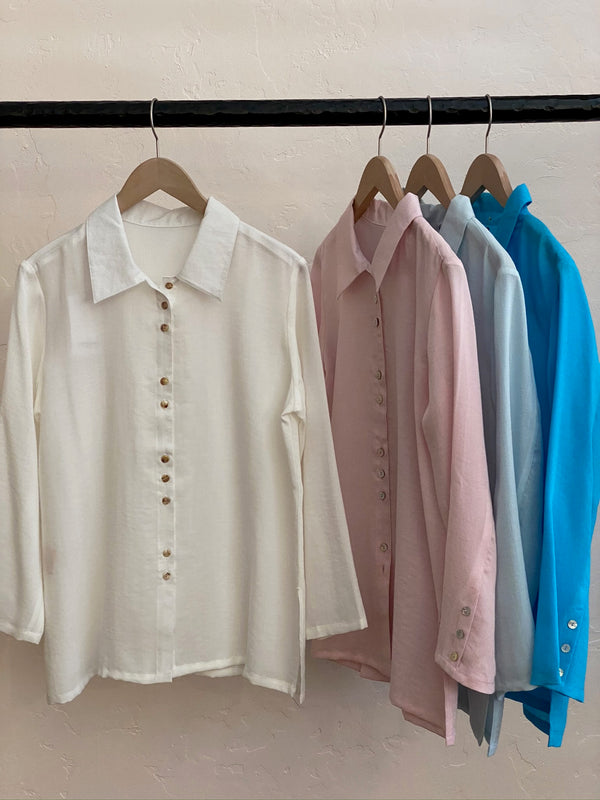 White Fun Buttons Shirt